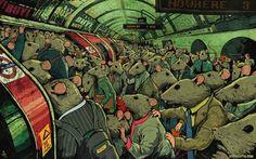Тези сатирични илюстрации показват бруталната истина за модерния живот - сп. Обекти