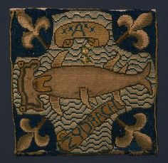 Hammerhead shark embroidery - Mary Queen of Scots embroidered these panels with Elizabeth Talbot, Countess of Shrewsbury (Bess of Hardwick) and ladies of the household, during her imprisonment. Tudor History, British History, Hammerhead Shark, Mary Queen Of Scots, Embroidery Patterns, Jacobean Embroidery, Geometric Embroidery, Victoria And Albert Museum, Rug Hooking
