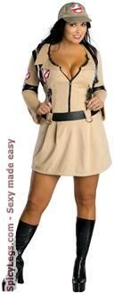 Sexy Costume - Ghostbuster Adult Plus Costume