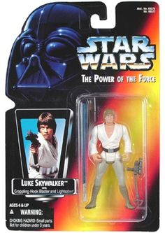 STAR WARS : Costumes and Toys : Star Wars Action Figure - Luke Skywalker - with Grappling Hook Blaster and Lightsaber long