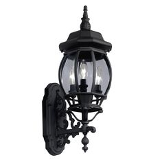 Shop Portfolio 22.68-in H Black Outdoor Wall Light at Lowes.com