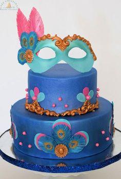 Peacock Masquerade  by Cake Creations by ME - Mayra Estrada