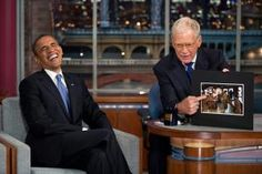 A must-see collection of President Obama's best and funniest candid moments, including adorable photos with kids, playful moments with his family, and other humorous antics.: Laughing With David Letterman