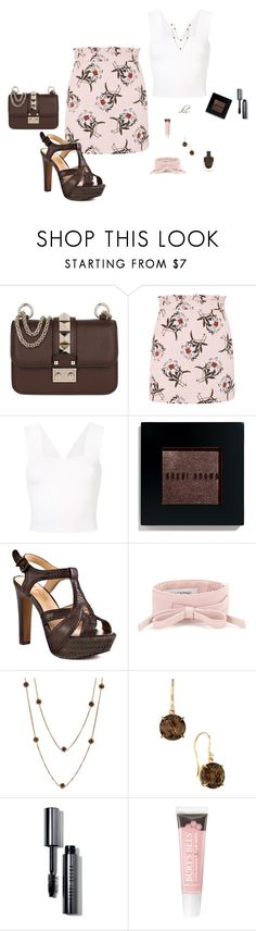 """Brown"" by dmiddleton ❤ liked on Polyvore featuring Valentino, Topshop, A.L.C., Bobbi Brown Cosmetics, Report, Effy Jewelry and Carelle"
