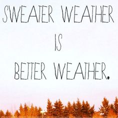 Autumn Picture Quote: Sweater weather is better weather. Quotes To Live By, Me Quotes, Fall Quotes, Summer Quotes, Music Quotes, Hate Summer, Better Weather, Happy Fall Y'all, Autumn Inspiration