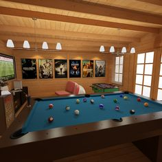 Whether its Retro Gaming, Pool, Consoles, Computer Games or Family Game Night Our Log Cabins Are the Perfect Place to Game the Day Away! Game Room Bar, Game Room Decor, Man Shed Interior Ideas, Garden Bar Shed, Garden Log Cabins, Garage Game Rooms, Pool Table Room, Man Cave Games, Man Cave Home Bar