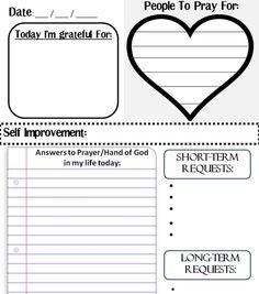 Prayer Journal Template | Printable Prayer Journal Template Page Prayers For Me Pinterest