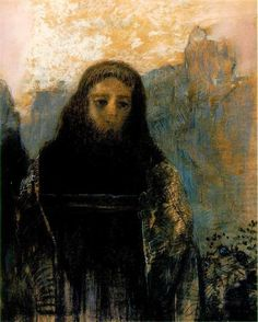 Parsifal, 1912 by Odilon Redon. Symbolism. literary painting. Musée d'Orsay, Paris, France