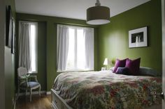 I am so in love with this color that I am 99.9% sure this is my new bedroom color. BM - Dark Celery
