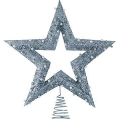 I love the bead garnish on this star tree topper!