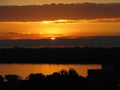 Pôr-do-sol em Uruguaiana, onde fica a Estância do Sossego. #RS