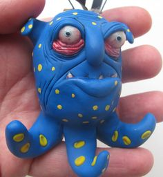 Lowbrow one of a kind ooak monster ornament by by mealymonster, $25.00