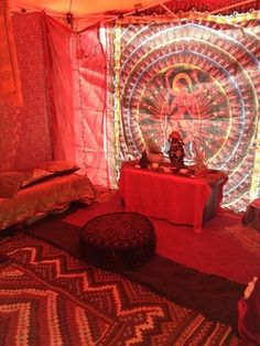 Nuit Mooreu0027s Scarlet Temple/Red Tent blessed and ready at the Three Days of & Altar Shrine to Mahadevi Lakshmi Goddess of Auspicious Blessings ...