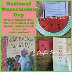 Watermelon Books  Activities (from Crafty Moms Share)