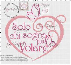 amorevitacrocette: Schema punto croce cuore con scritte personalizzate