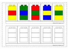 idéesautisme: Suivi de modèles (avec des légos) Lego Activities, Toddler Learning Activities, Preschool Education, Preschool Worksheets, Kindergarten Activities, Kids Learning, Lego Therapy, Modele Lego, Math Patterns