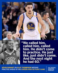 13835d586db Kevin Durant talking about Klay Thompson!