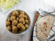 Vegan Falafel, to satisfy your cravings for the delicious little ball of chickpea-goodness. Eaten in a wrap, pita bread, oriental bread or on hummus.
