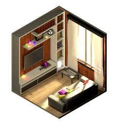 Isometric environments on Behance
