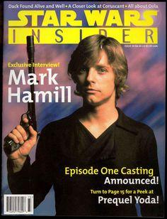 Star Wars Insider magazine #34 featuring Mark Hamill as Luke Skywalker.  I remember this!