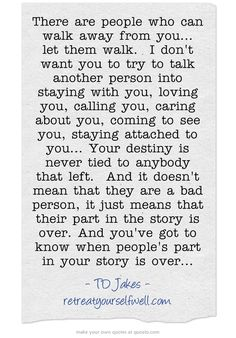 Your part in my story was over years ago. I wanted to stay for the sake of the kid. Its no longer worth it. The fact that you let me walk away so easily proves that you were never a real friend to me