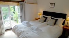 You can stroll out to your private garden, cup of tea in hand, from the bedroom at The Forge