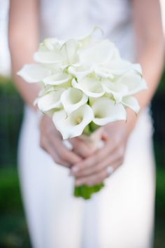 White Calla Lily Bridal Bouquet | Annie McElwain Photography | TheKnot.com