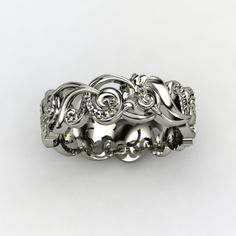 Poseidon Sterling Silver Ring  - lay_down