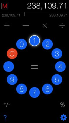 The redesign separates the numeric keypad from the operators logically.