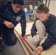 Week In-Stagram Review Volunteering - All nails done by hand! Made great progress on the house building today!