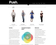 Push Here - One of the coolest Meet the Team Pages I've seen! Reading People, I Love Reading, About Me Page, How To Read People, Team Page, Interactive Media, Body Picture, Branding Agency, Blog Sites