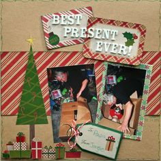 Best Scrapbook Layouts | Best Present Ever! *DCWV* - Scrapbook.com