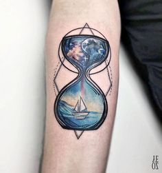 Somewhat mystical tattoo definitely choice of a great lover of the sea and sailing.