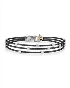 895.00$  Watch now - http://vizvn.justgood.pw/vig/item.php?t=cda6r7f9189 - ALOR Stud Black Stacked Cable Bangle
