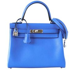 Hermes Kelly 28 Blue Hydra Evergrain  #baghunter