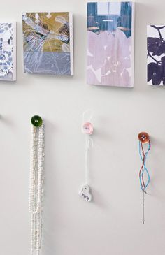 Try using buttons as hooks – this is a sweet idea, isn't it?