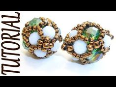 Beading tutorial - Shiny beaded component for earrings or bracelets - DIY beads jewelry - YouTube