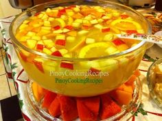 A big bowl of Fruit Punch- a must have at our Christmases.