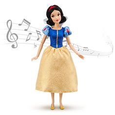 """There's only one thing better than a Snow White doll - a Snow White doll who sings! SINGING SNOW WHITE DOLL (sings """"Whistle While You Work"""") (from Walt Disney's """"Snow White and the Seven Dwarfs"""")"""