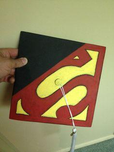 Superman graduation cap