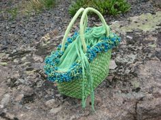 Cast Vintage Lime Sorbet Avacado Straw handbag Unique Purse Mother's Day Birthday Graduation Chartrus Spring Fling
