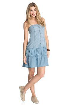 edc - Trägerkleid aus Denim im Online Shop kaufen