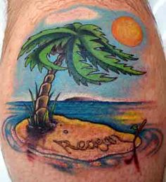 With a little different colors I could make this work for the palm tree beachy tattoo I want.