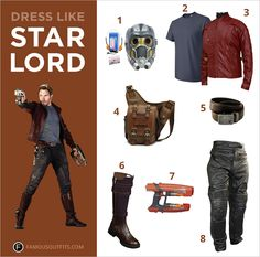 Marvel superhero Peter Quill, played by Chris Pratt, leads a space-based superhero team, The Guardians of the Galaxy, as Star-Lord. With his cassette deck in hand, he guides his team to stop Ronan the Accuser's rampage. You can look just like the interplanetary policeman this Halloween. #StarLord #menscostumes