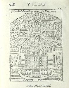 """Italy - Lazio - Frascati (Roma) - Villa Aldobrandina -  da """"Ritratto di Roma moderna..."""" di Pompilio Totti - Roma, 1638"""