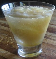Bourbon Slush. This a a great frozen drink that is made ahead of time and kept frozen in your freezer until ready to serve.  The drink is sweet with a zip of tanginess. So cool and refreshing on a hot summer day!