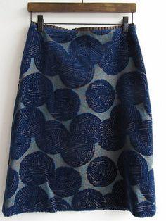 "woolly ball スカート/買取実績/ミナペルホネン古着買取専門店ドロップ: mina perhonen skirt called ""woolly balls"" - This is the perfect skirt for a knitter!"