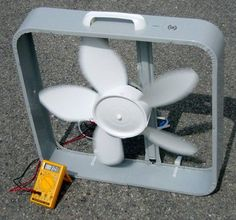 Box Fan Wind Turbine More Alternative Energy Solar Projects, Energy Projects, Diy Projects, Circuit Projects, Outdoor Projects, Project Ideas, Solar Energy System, Solar Power, Alternative Energie