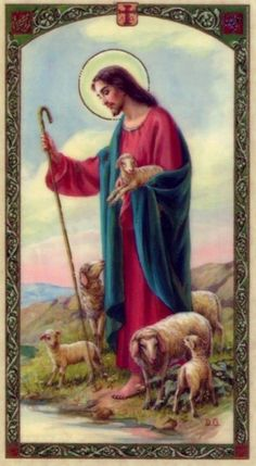 Twenty Third Psalm Prayer Card The Lord is My Shepherd Laminated 2 Christ The Good Shepherd, Lord Is My Shepherd, Archangel Raphael Prayer, Archangel Prayers, St Valentine Prayer, Prayers For Hope, Première Communion, Pictures Of Christ, Christian Images