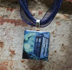 Doctor Who Tardis Scrabble Tile Pendant by GreyGyrl on Etsy, $6.00